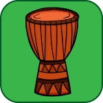 Djembe-button